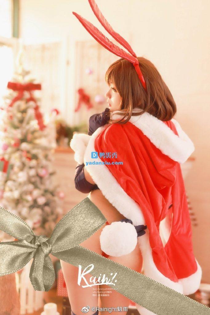 Rainight魈雨cosplay圣诞节版兔女郎蝴蝶结