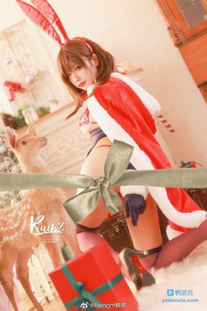 Rainight魈雨cosplay圣诞节版兔女郎